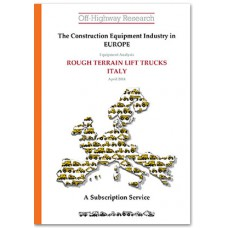 European Equipment Analysis: Rough Terrain Lift Trucks - Italy